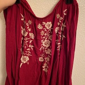 Abercrombie Off the shoulder long sleeve blouse!